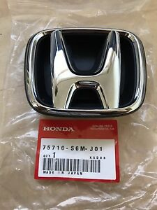JDM ACURA RSX SILVER H FRONT EMBLEM NEW HONDA GENUINE OEM - Acura rsx front emblem