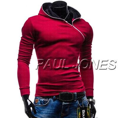 YOUNG&SMART Mens Slim Fit Hooded Coats Hoodies Baseball Jackets Tops Sweatshirts