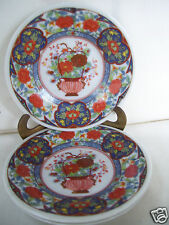 """Lot 3 Chinese Japanese Oriental Decorated Mini 4 1/4"""" collector plates"""" Mint"""