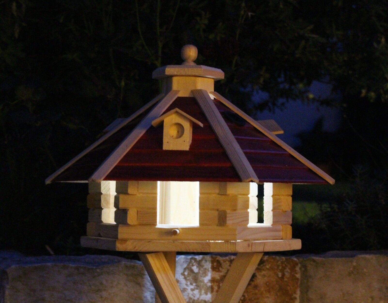NUOVO    XXL Casa di uccelli, le case di uccelli Con Illuminazione Solare Tipo 20