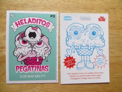 MELTY MISFITS HELADITOS PEGATINAS STICKER PROMO CARD P3 PHILLY NON-SPORT SHOW