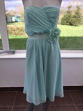 ASOS WEDDING Chiffon Midi Dress Detachable Corsage Belt UK 18 CG28 Mint