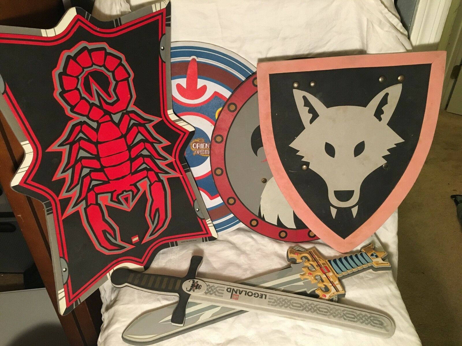LEGOLAND Lot of Shields & Swords: Wolf, Eagle, Protect the Castle, & MORE