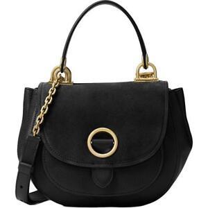 d64b4344de01 Image is loading Michael-Kors-Womens-Isadore-Black-Shoulder-Handbag-Medium-