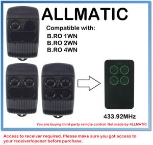 ALLMATIC B. RO WN BRO1WN- Bro 2WN- BRO4WN Compatible Remote control rolling code-afficher le titre d`origine dn8BuEoJ-07141317-750241648