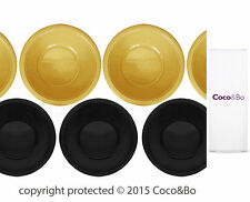 Coco&Bo 5 x Magical Wizarding Gold & Black Party Bowls Harry Potter Theme