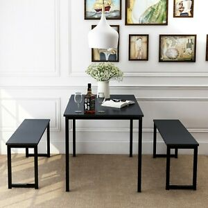 3 Piece Dinning Room Set With 2 Bench