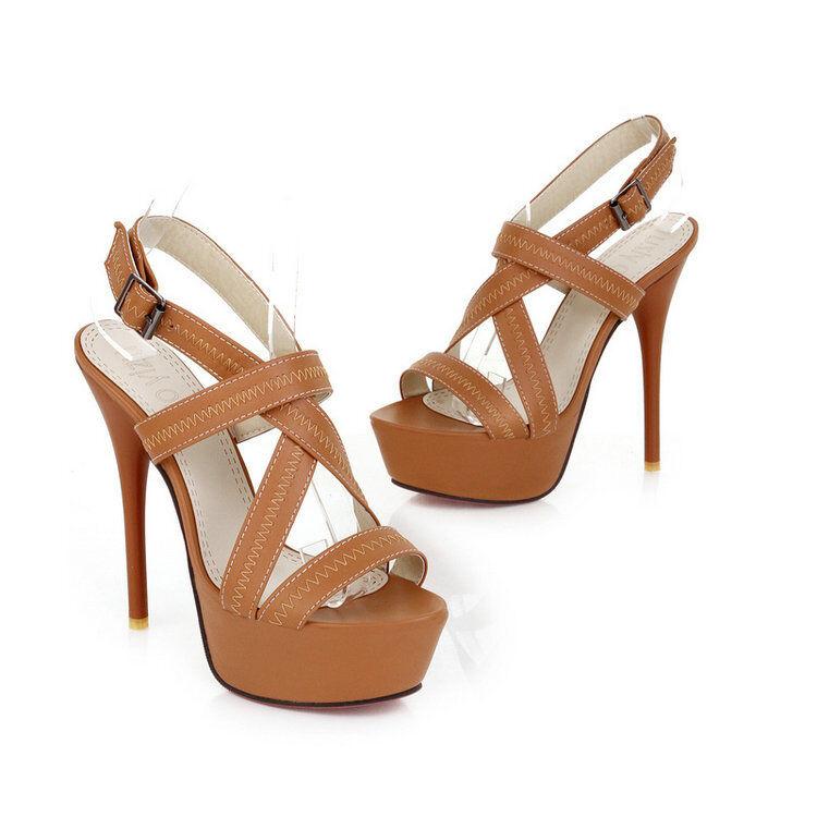 Décollte chaussures decolte sandali spillo 13.5 stiletto beige stiletto elegante 241