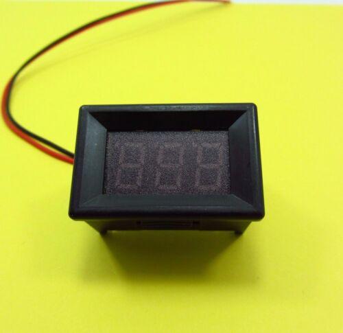 Dos alambre Voltímetro Digital DC2.5-30V Pantalla de Panel Probador de Tensión LED 5V 12V 24V