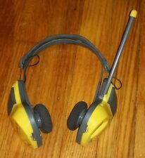 Coby CX-24 Lightweight AM/FM radio Headphones Sports VINTAGE ANTIQUE ELECTRONICS