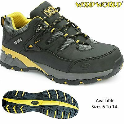 MENS LIGHTWEIGHT WATERPROOF SAFETY NON-METAL TOE CAP WORK SHOES TRAINERS BOOT SZ