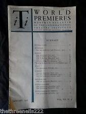 INTERNATIONAL THEATRE INSTITUTE WORLD PREMIER - JAN 1956 VOL 7 #4