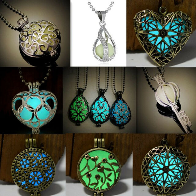 Glowing Distinctive Necklace Magical Hollow Fairy Glow In Dark Unisex Jewelry