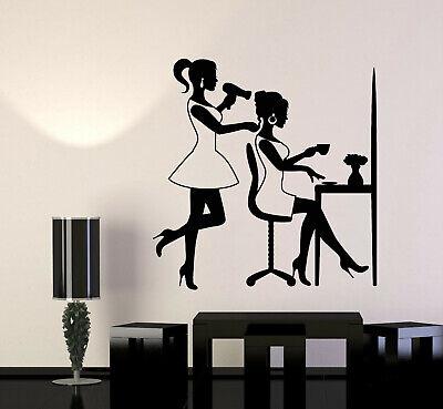 g276 Vinyl Wall Decal Barber Girl Beauty Salon Hair Woman Stylist Art Stickers