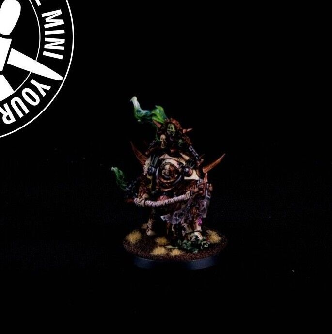Warhammer 40K  Death Guard, Lord of Contagion. 1 PRO PAINT mini with dec stand