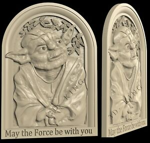 3D STL Models # THE TEACHER YODA # for CNC Aspire Artcam 3D Printer 3D MAX