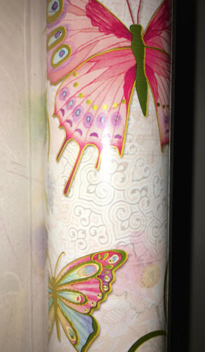 """Punch Studio BEAUTIFUL BUTTERFLY/'S  WRAPPING PAPER 30/"""" X 10/' FOIL GORGEO NWT"""