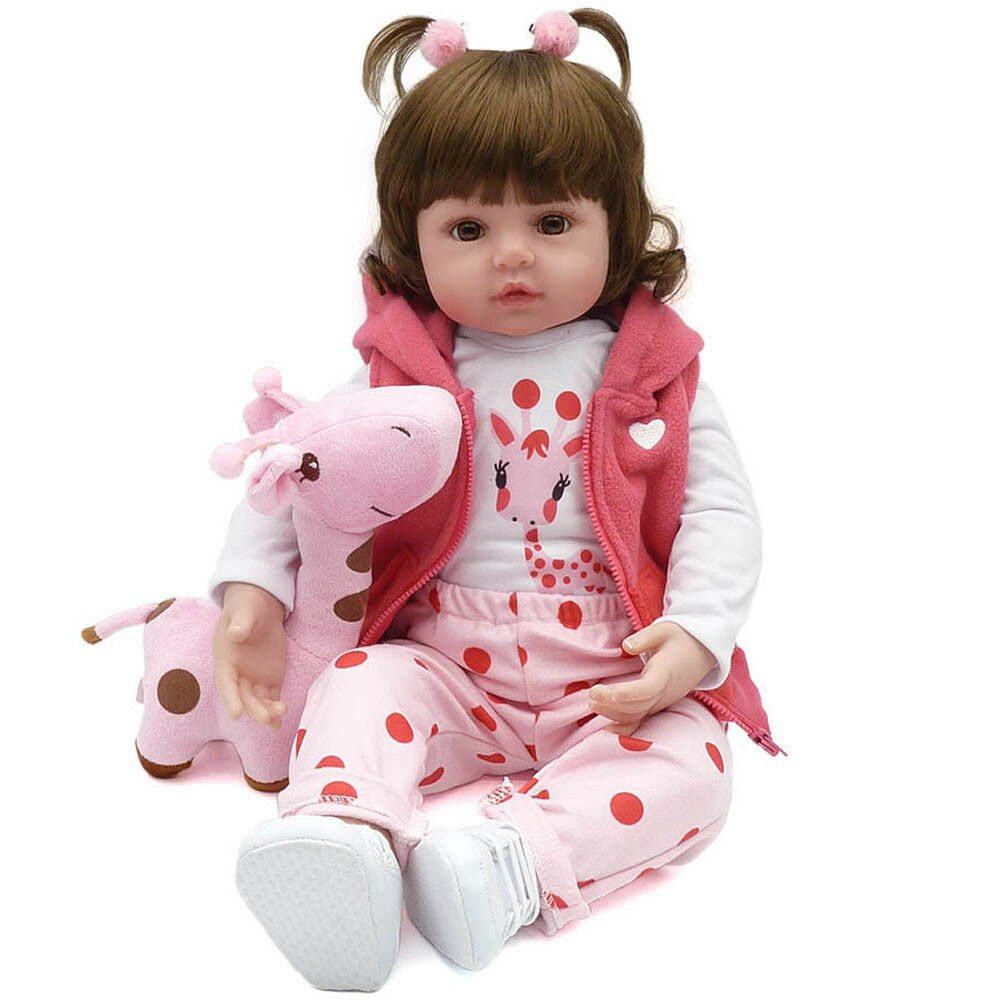 OFERTA Bebe reborn doll 48 cm silicona reborn baby muñeca realista