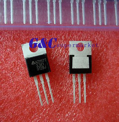 5PCS AZ1117T AZ1117T-3.3 3.3V 1A LOW DROPOUT LINEAR REGULATOR BCD NEW T8