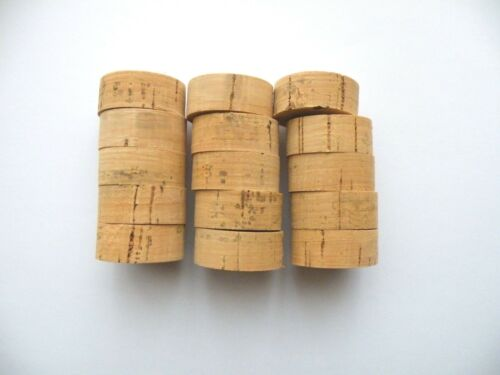 "FREE SHIP!!!! 30 CORK RINGS 1 1//4/""X1//2/""  BORE 1//4/""  FLOR BLACK STAINS"