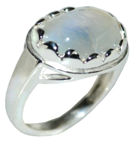 925 Sterling Silver Natural Rainbow MOONSTONE Ring All Sizes from M,6 upto Z5,15