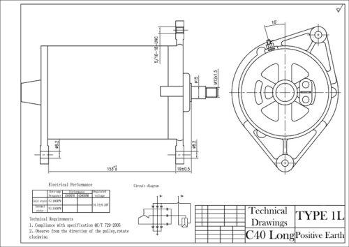 Positive Earth Dynamator Lichtmaschine Dynamo Umwandlung Lucas C40l Ford Consul