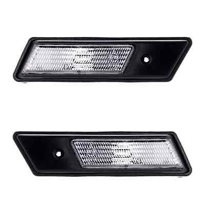 BLACK SMOKED SIDE MARKER INDICATOR LIGHT REPEATERS  BMW E36 3 SERIES 1990-1996