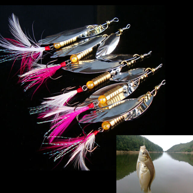 8g Fishing Lure Spoon Bait ideal for Bass Trout Perch pike rotatingFishingTOP1NL