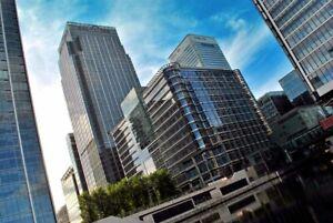 Canary Wharf Skyscrapers Tower Hamlets London Docklands England Photograph Photo
