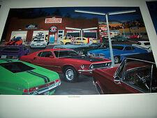The Enthusiast Dave Snyder Car Art AMX Cyclone Daytona Trans Am Z-28 Cuda GTO