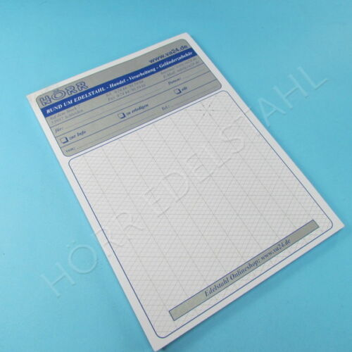 Papier Block Isometrie DIN A4 und DIN A5 50 Blatt Zeichenpapier Hörr