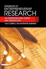 HANDBOOK OF ENTREPRENEURSHIP RESEARCH - NEW PAPERBACK BOOK
