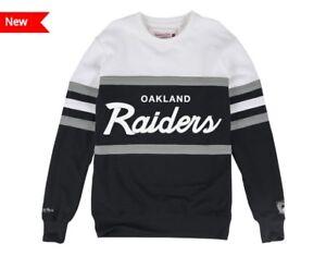 ef78f9e8 Details about NEW Oakland Raiders Mitchell & Ness NFL Men's Head Coach Crew  Sweatshirt