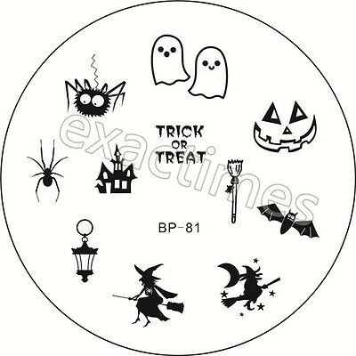 BORN PRETTY BP-81 Halloween Witch Nail Art Stamping Template Image Plate 1pc