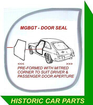 Driver//Passenger DOOR SEAL BLACK NYLON MITRED CORNER for MGBGT Only 1965-80