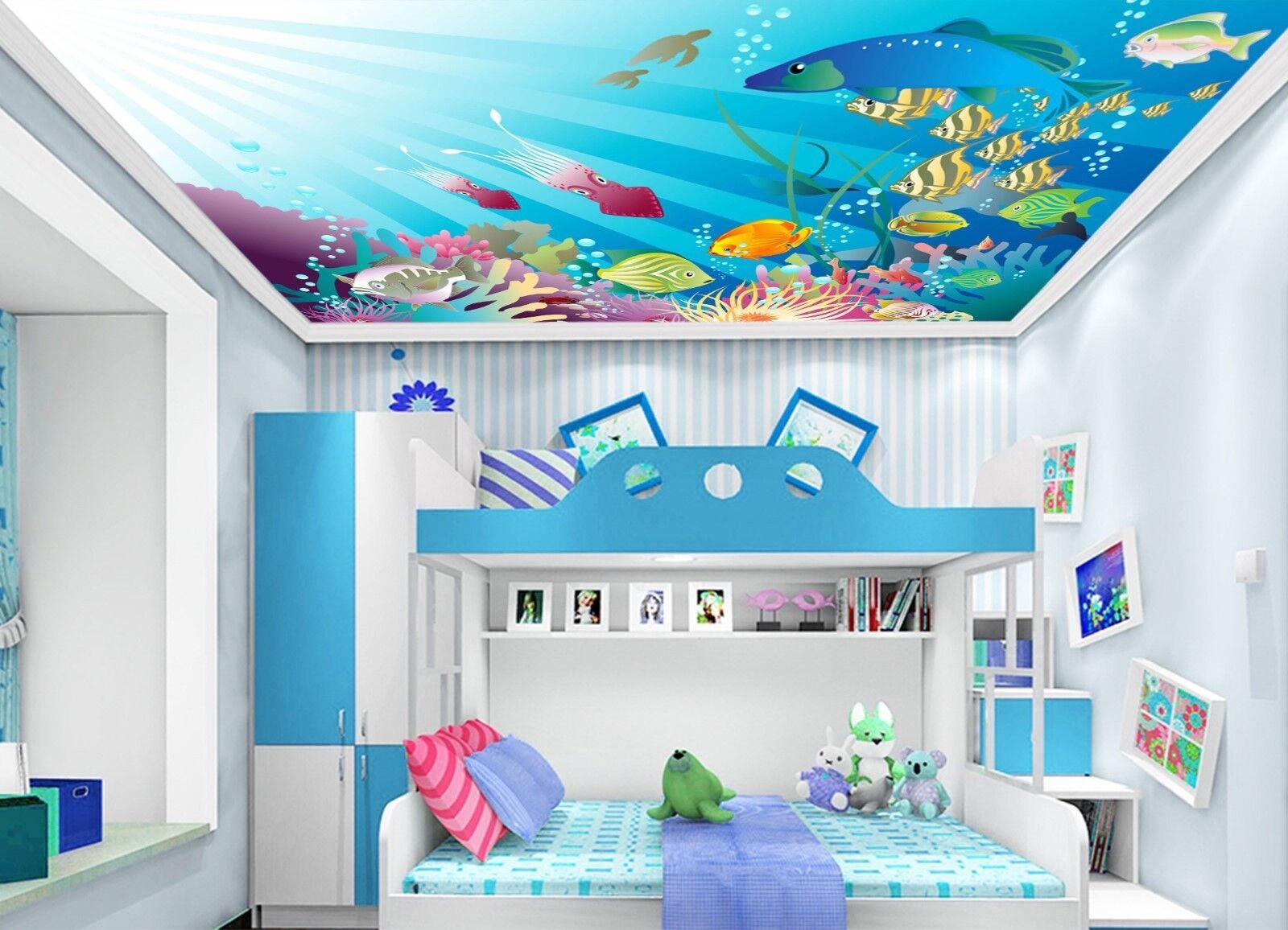 3D Karikatur Fisch 8 Fototapeten Wandbild Fototapete BildTapete Familie DE Lemon