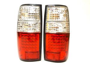 Lampara-de-luces-de-senal-de-cola-trasero-conjunto-izquierda-derecha-LED-Blanco-TOYOTA-Land-cruiser