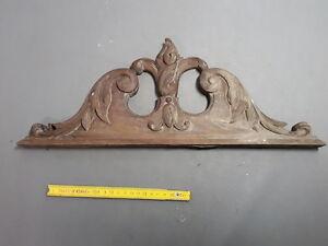 Antique-Pediment-Deco-Coin-Wooden-Furniture-Antique-Walnut-Patina