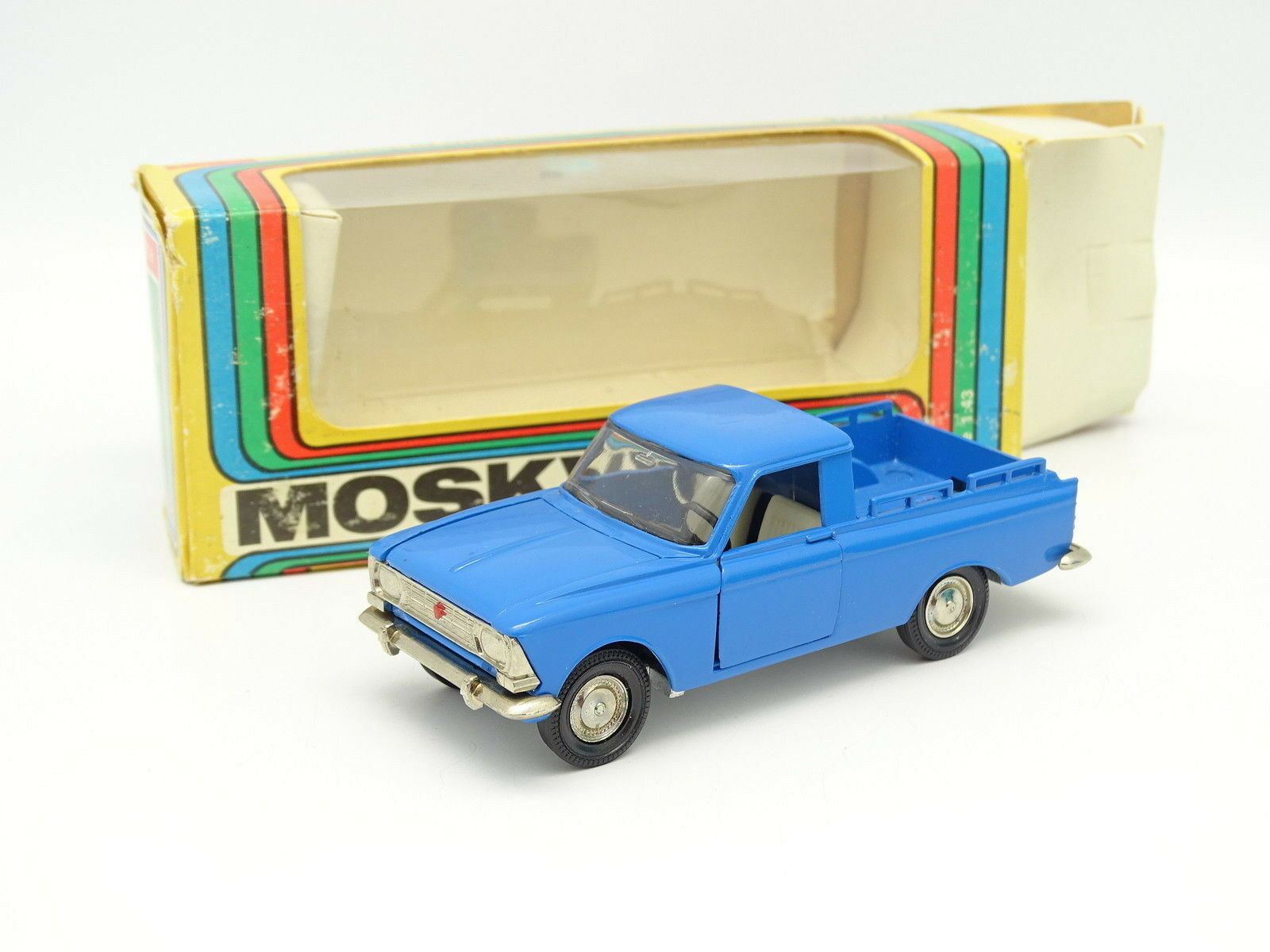 USSR Saratov 1 43 - Moskvitch Pick up A19 bluee
