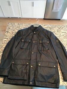 d5ac96226a Belstaff Streetmaster Jacket Size 56 (X Large) Navy Blue Wax Coat ...