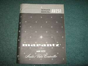 Marantz-AV251-Audio-Video-Controller-Service-Manual-16-page-Good-Condition