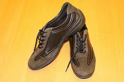 Easy Street Leder-Schnürschuhe, Gr 38, braun, neuwertig, geeign. Einlagen, TOP!