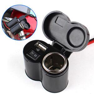 Cigarrillo-Cargador-Adaptador-USB-moto-impermeable-Interruptor-encendedor-de-coche