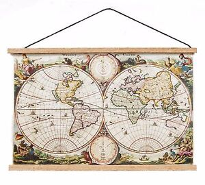 112 scale dolls house ancient world map wall hanging study school image is loading 1 12 scale dolls house ancient world map gumiabroncs Choice Image