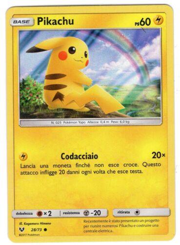 POKEMON Pikachu 28//73 Leggende Iridescenti Comune HOLO ITA
