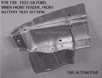 Ford Car Inner Front Fender Battery Tray Section 1957-1958 199 Ems