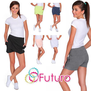 Ladies-Wrap-Mini-Skort-Skirt-Irregular-Flanging-Shorts-Culottes-Size-8-12-FT1222
