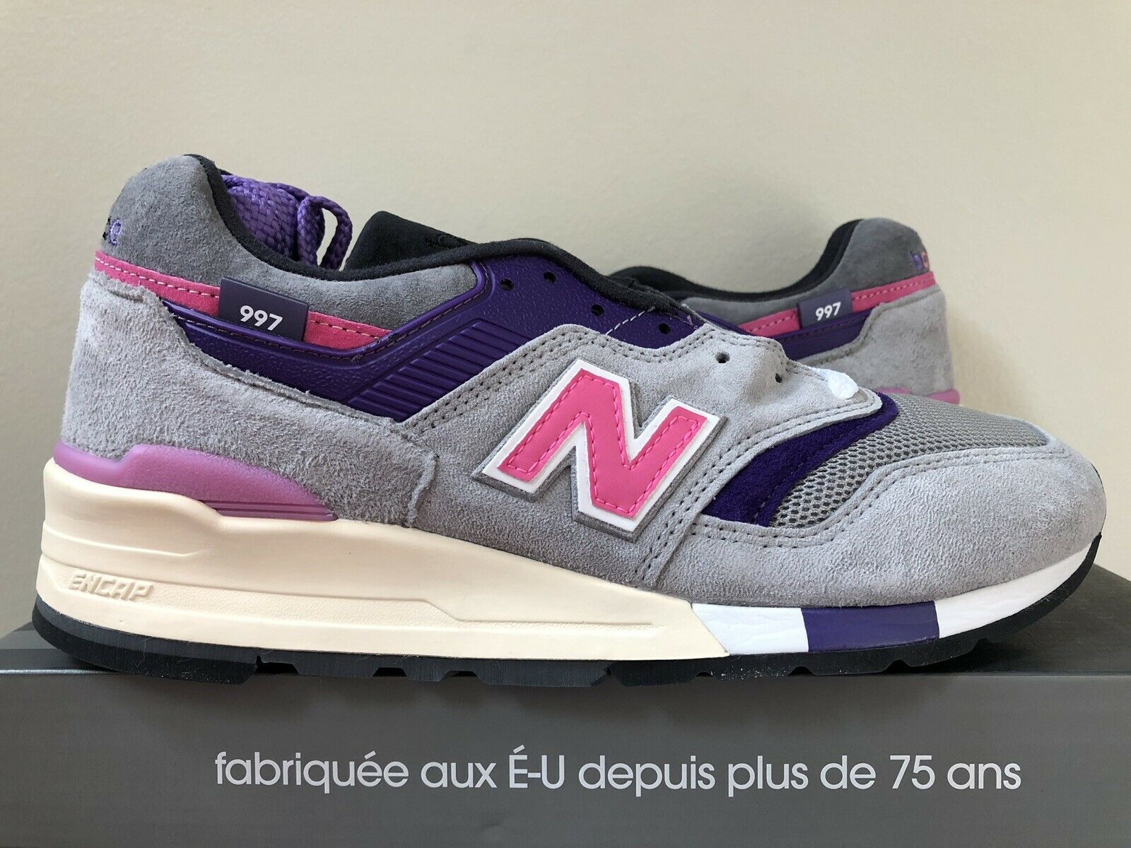 New Balance 997 x KITH x UNITED ARROWS Grey Pink Size 7.5 LIMITED 100% Authentic