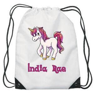 Bolso colorido Unicornio Con Cordón PE Zapatos Gimnasio Natación Personalizado