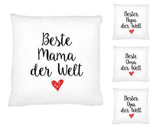 kissen kissenbezug beste mama papa oma opa geschenk geburtstag ebay. Black Bedroom Furniture Sets. Home Design Ideas